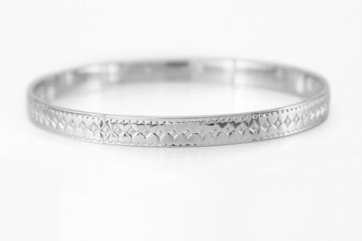 Hearts & Diamonds Silver Bracelet