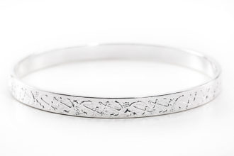 Anchors Silver Bangle