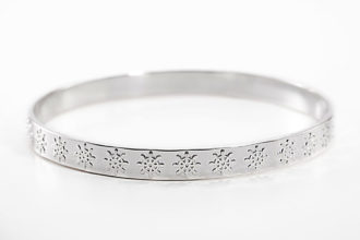 Ship Wheel Silver Bangle