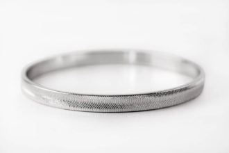 Ripple Effect Silver Bangle