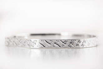 Dragonfly Silver Bangle