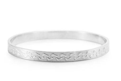 Feet Silver Bracelet