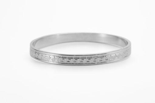 Meander Silver Bracelet