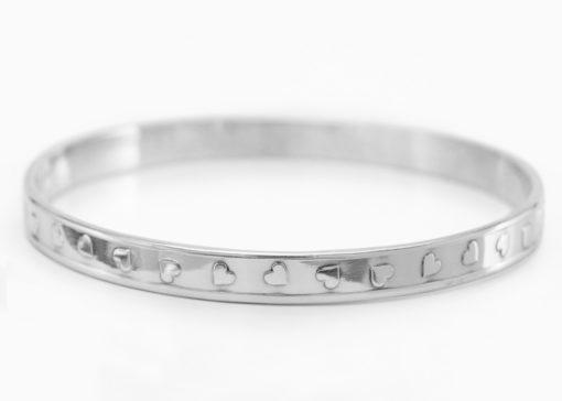 Tumbling Hearts Silver Bracelet